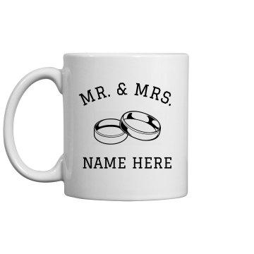Custom Mr & Mrs Just married