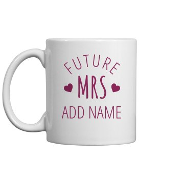 Custom Mrs Bridal Gift