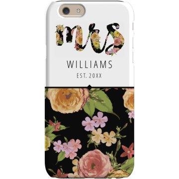 Custom Mrs Floral Phone Case
