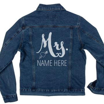 Custom Mrs. Heart Design