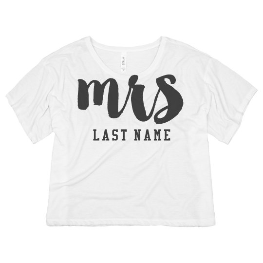 Custom Mrs Jersey Crop