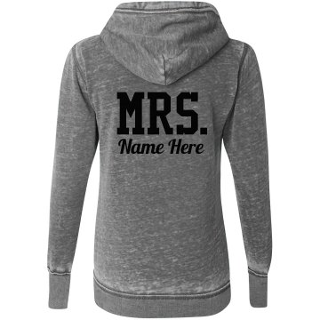 Custom Mrs. Last Name Newlywed