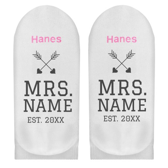 Custom Mrs Name Socks