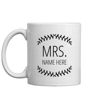 Custom Mrs. New Name With Laurels