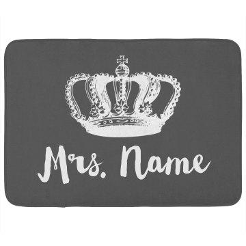 Custom Mrs. Queen Newlywed Gift