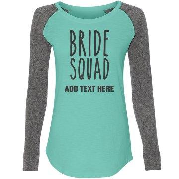 Custom Name Bride Squad