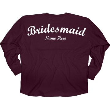 Custom Name Bridesmaid Jersey