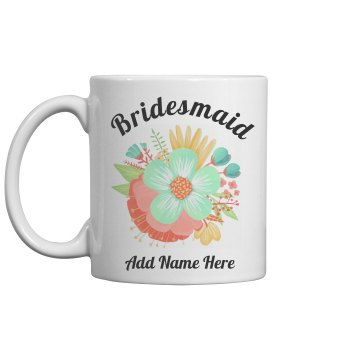 Custom Name Floral Bridesmaid Gift
