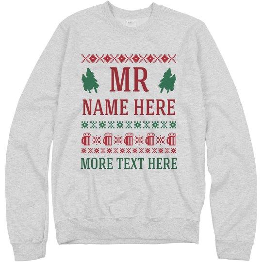 Custom Name Husband/Wife Ugly Set