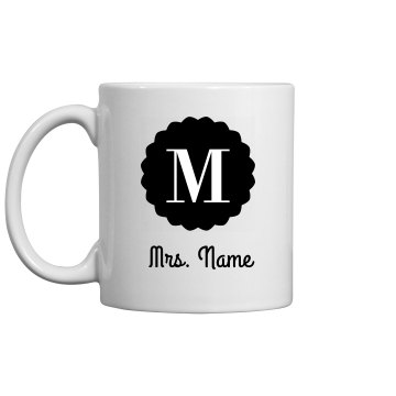 Custom Name Inital Morning Coffee