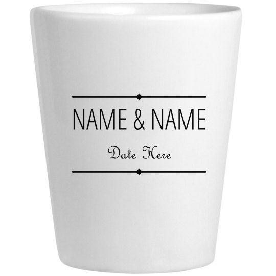 Custom Name Wedding Date Gift