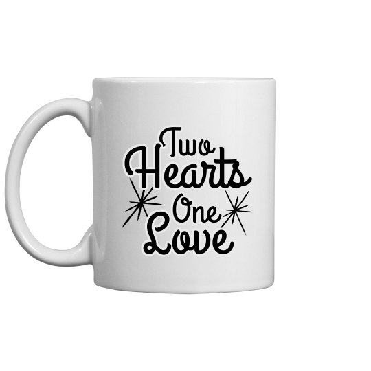 Custom Names Two Hearts One Love
