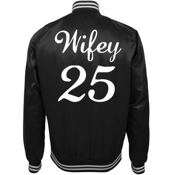 Custom Number Wifey Just Married Bomber