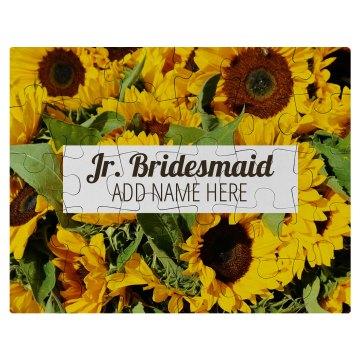 Custom Photo Jr. Bridsmaid Gift
