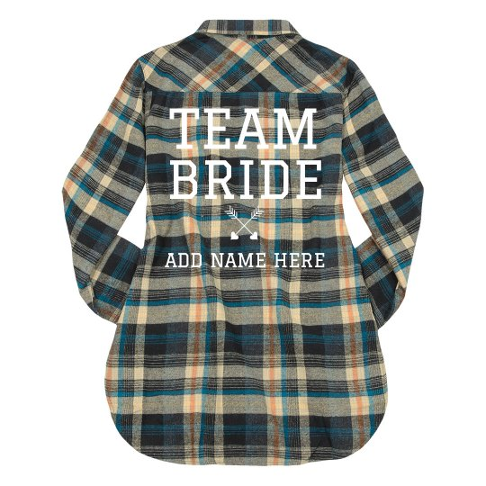 Custom Plaid Team Bride