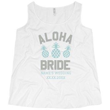 Custom Plus Size Aloha Bride Tank
