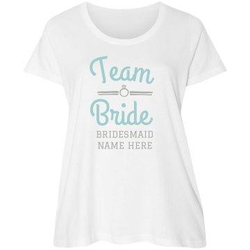 Custom Plus Size Bridesmaid Tee