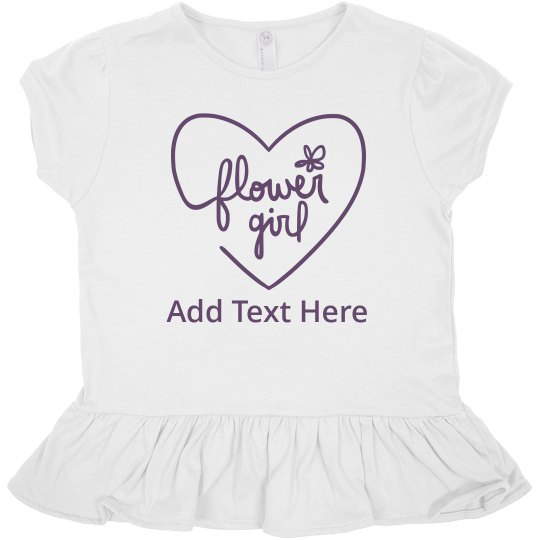 Custom Script Flower Girl