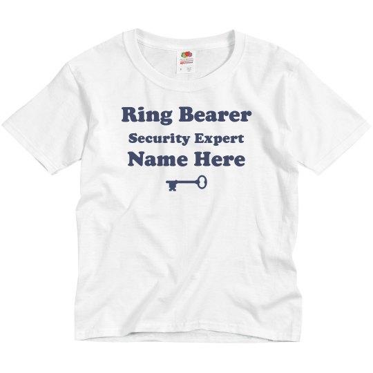 Custom Security Expert Ring Bearer Tee