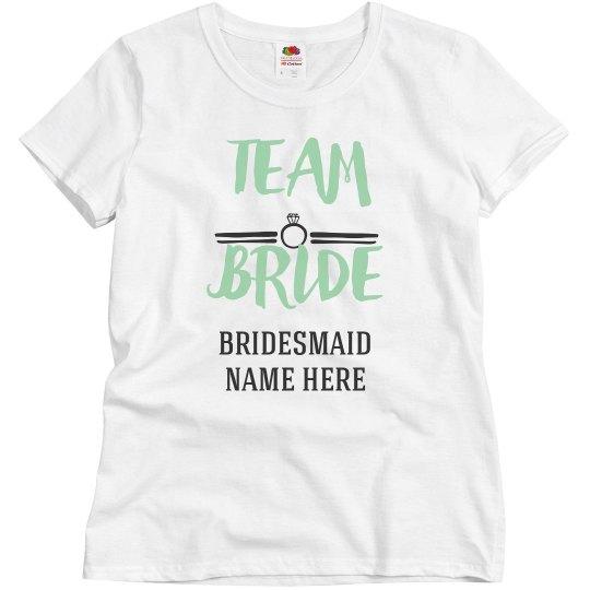 Custom Team Bride Bridesmaid Design