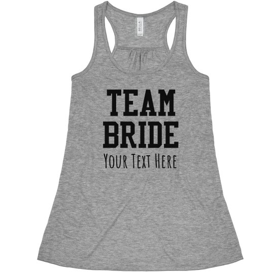 Custom Team Bride Fashion Tank