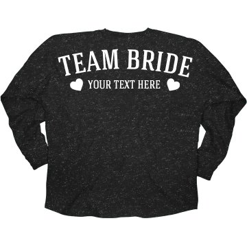 Custom Team Bride Glitter Jersey