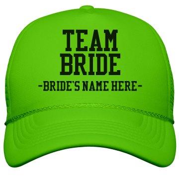 Custom Team Bride Green
