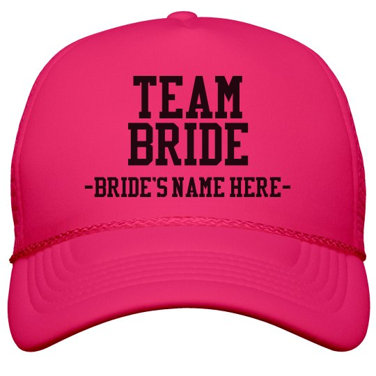 Custom Team Bride Hat