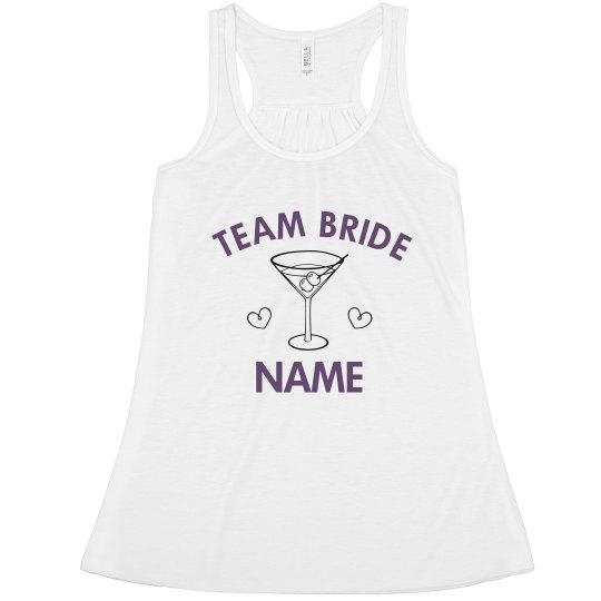 Custom Team Bride Martini
