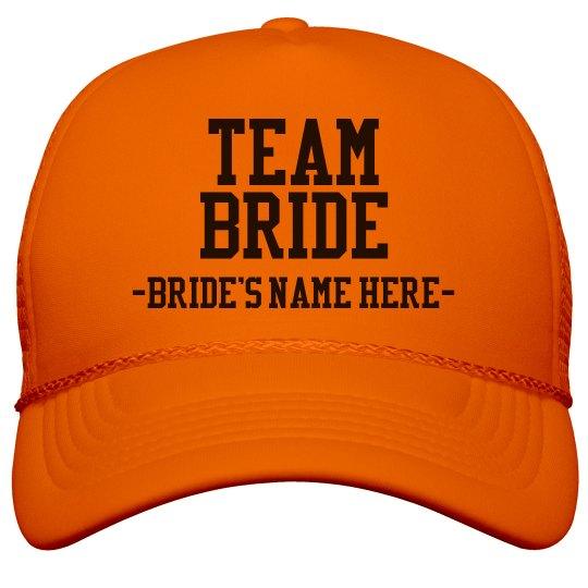 Custom Team Bride Orange