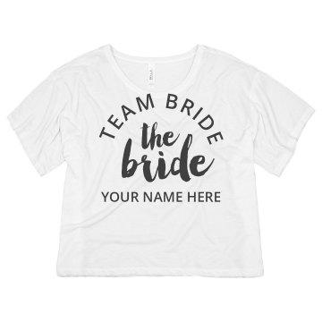 Custom Team Bride Script