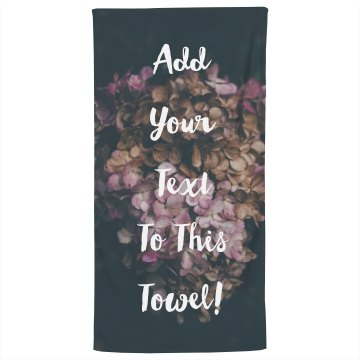 Custom Text Beach Towel