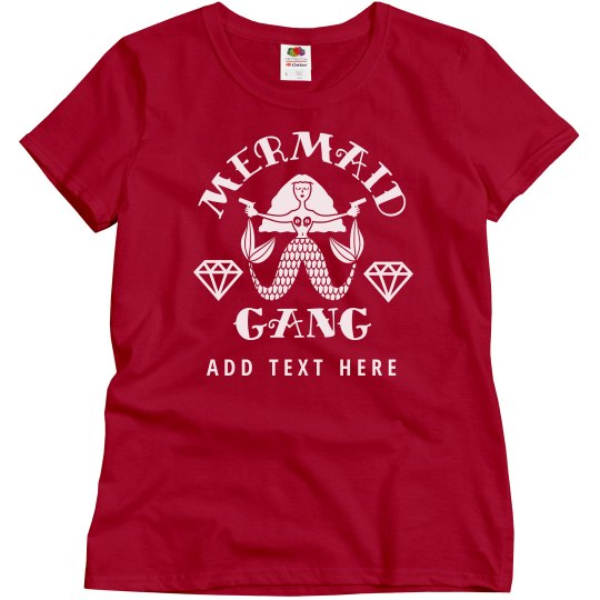 Custom Text Mermaid Gang Bachelorette Party