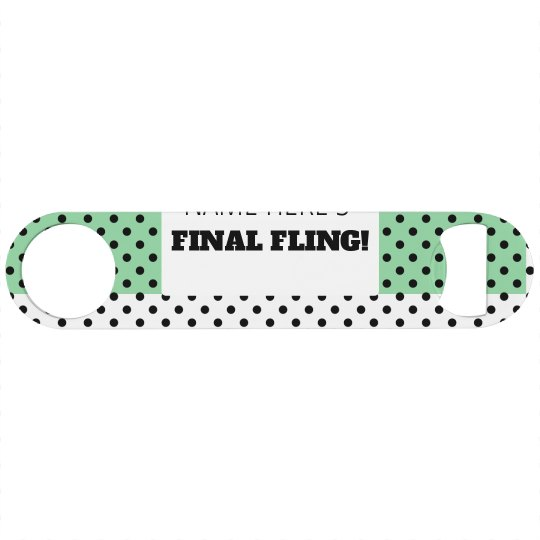 Custom Trendy Polka Dot Final Fling