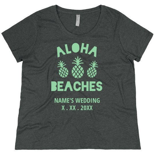 Custom Wedding Date Aloha Beaches