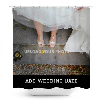 Custom Wedding Date Shower Curtain