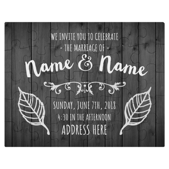Custom Wedding Invitation Puzzle