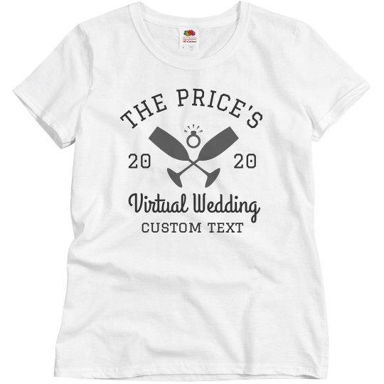 Customizable Virtual Wedding Tees