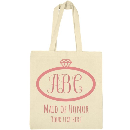 Customize Your Own Monogrammed Bridal Party Totes
