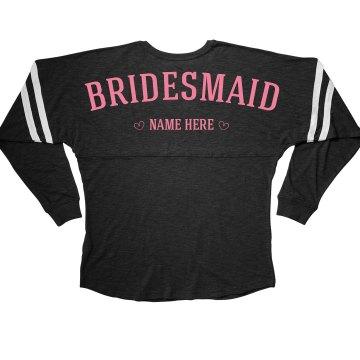 Cute & Trendy Custom Bridesmaid Bachelorette Jersey