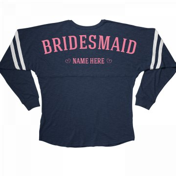 Cute & Trendy Custom Bridesmaid Bachelorette Jersey