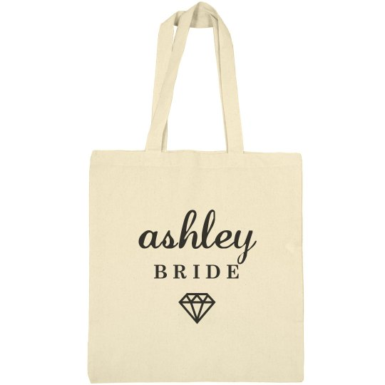 Cute Bride Ashley Tote Bag