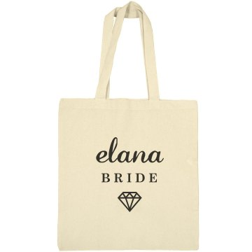 Cute Bride Elana Tote Bag