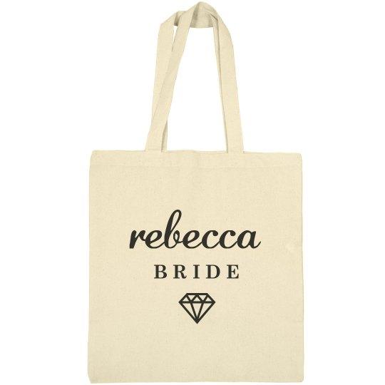 Cute Bride Rebecca Tote Bag