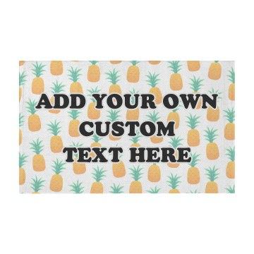 Cute Custom Text Pineapple Pattern