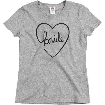 Cute Heart Bride T-Shirt
