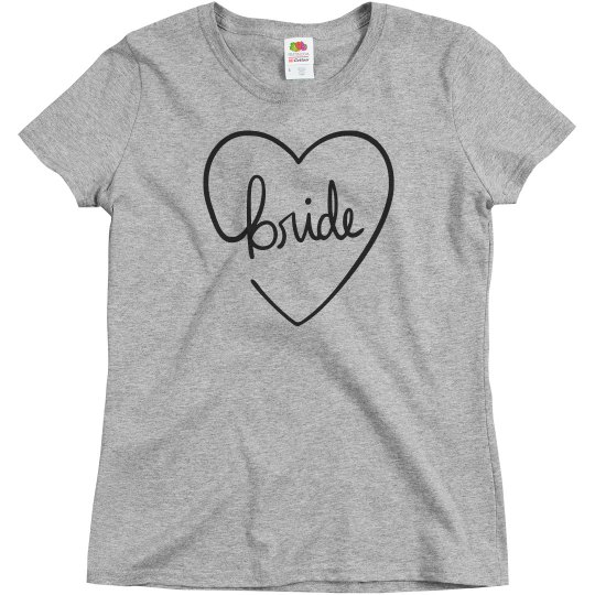 Cute Heart Bride T-Shirt