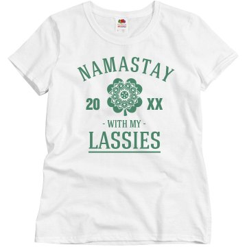 Cute Namastay With My Lassies