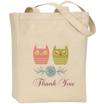 Cute Owls Favor Tote Bag