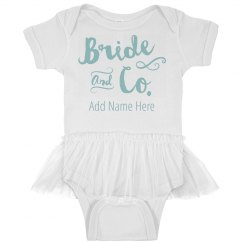 Custom Name Bride And Co Baby
